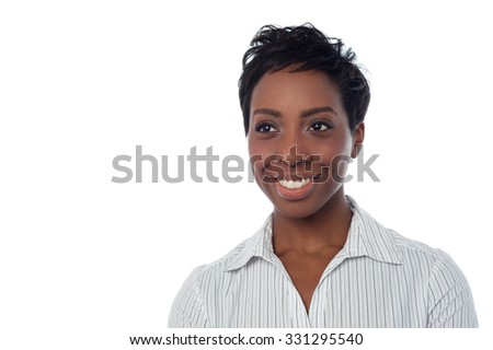Young business lady posing in formals