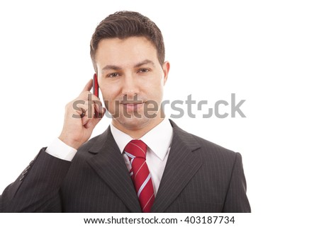 young business man in white background