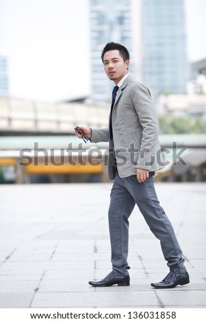 young business man of Asian - stock photo