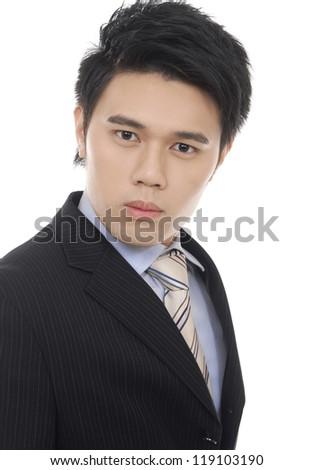 young business man portrait - stock photo