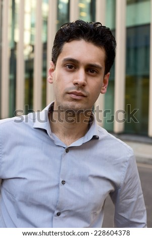young business man wearing a shirt. - stock photo