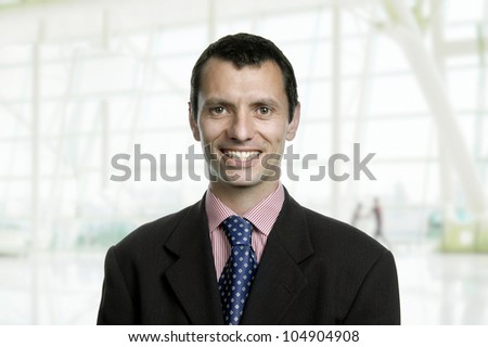 young business men portrait at the office - stock photo