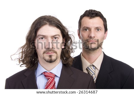 young business men portrait on white