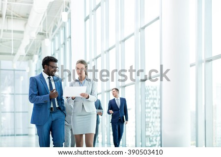 Young business partners in office