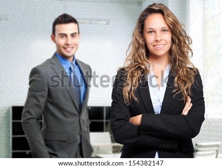 Young business partners in their office