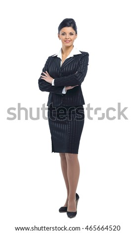Young business woman in suit