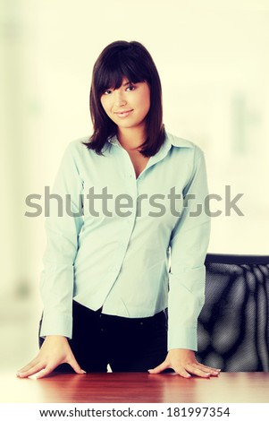 Young business woman portrait - stock photo