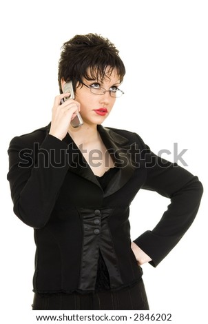 Young business woman speaking on the phone