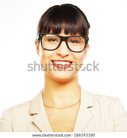 young business woman with glasses