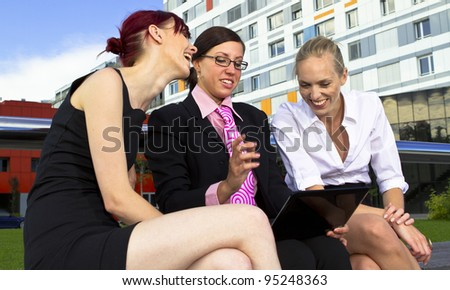 Young business women in urban area