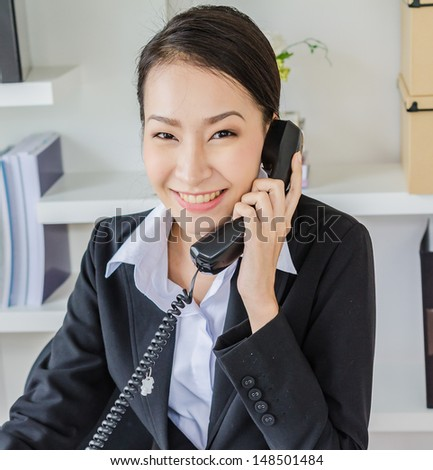 Young business women phone calling - stock photo