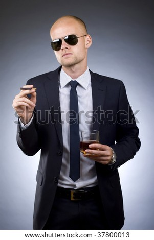 young businessman asking for a lite for his cigarette