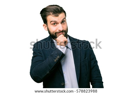 young businessman disagreement pose