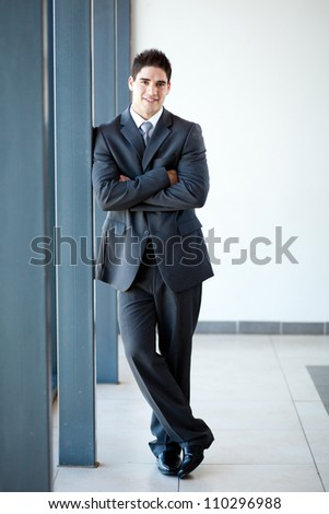 young businessman full length portrait - stock photo