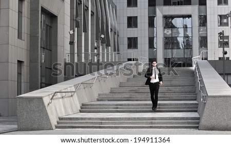 young businessman go to work - stock photo