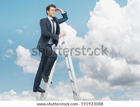 Young businessman on his careers - stock photo