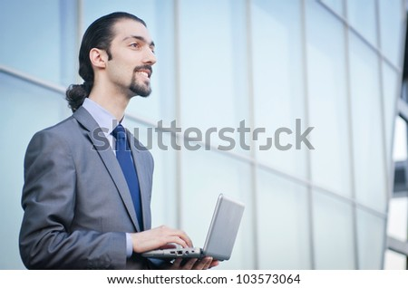 Young businessman on the street