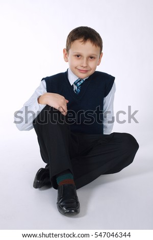 young businessman on white