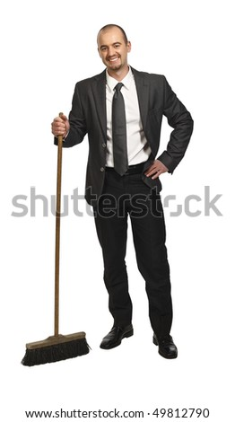 young businessman portrait isolated on white background - stock photo