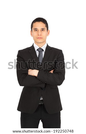Young businessman posing - stock photo