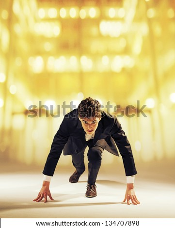 Young businessman starting his career - stock photo