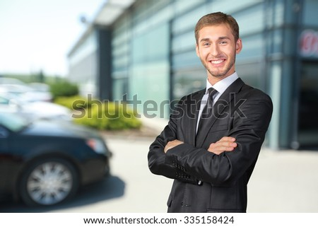 Young Businessman with his arms crossed