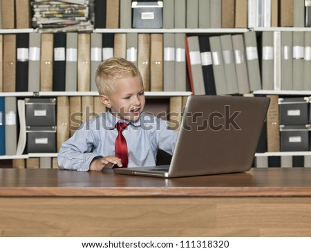 Young Businessman working at the office