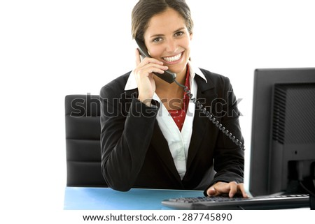 Young businesswoman at workplace