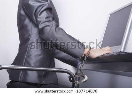 Handcuffed Woman Stock Photos, Images, & Pictures ...  Handcuffed Woma...