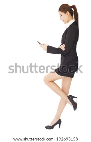 young businesswoman holding  smart phone