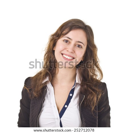 Young Businesswoman Smiling Portrait. - stock photo
