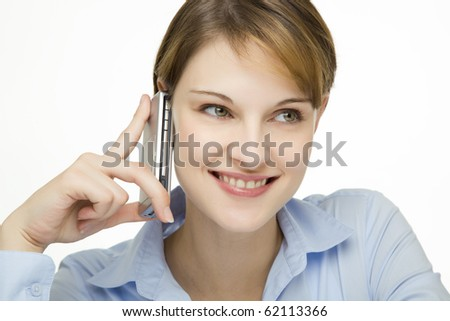 young businesswoman talking on a mobile phone