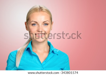 Young casual style woman portrait - stock photo