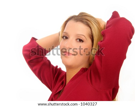 Young casual woman - stock photo