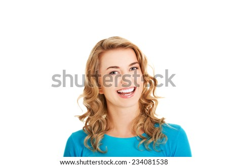 Young casual woman style. Studio portrait. - stock photo