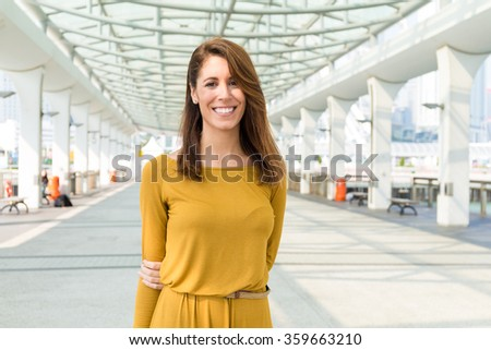 Young caucasian woman - stock photo