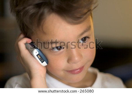 Young Cell Phone User