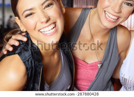 Young Cheerful Female Friends - stock photo