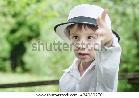 young child - stock photo