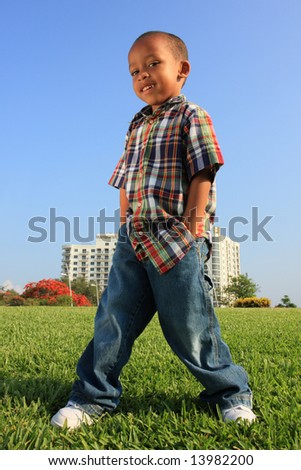 Young Child Modeling - stock photo