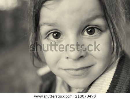 young child portrait black and white photography