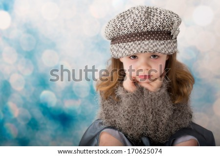 Young child with attitude - stock photo