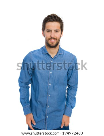 young confidence man - stock photo
