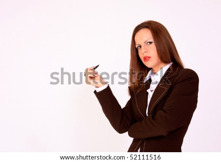 Young confident businesswoman - stock photo