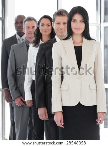 Young Confident Female Business leader - stock photo