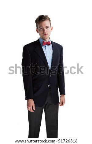 Young confident prep school man, isolated image