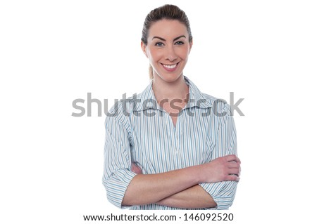 Young confident smiling business lady