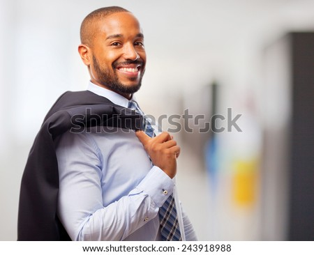 young cool black man - stock photo