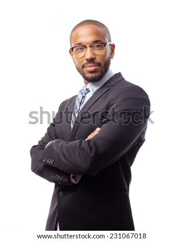 young cool black man intelligence - stock photo