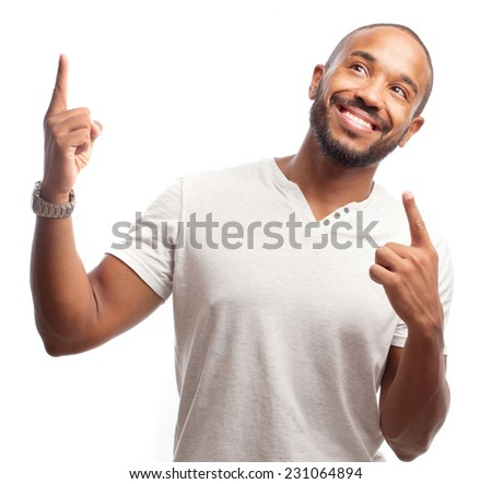 young cool black man win gesture - stock photo